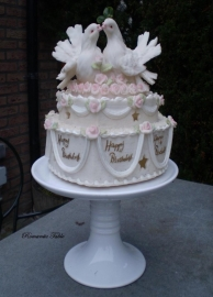 Antieke Engelse cake - stand
