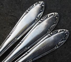 Antieke zwaar verzilverde Art Nouveau gebaksvorken no 65
