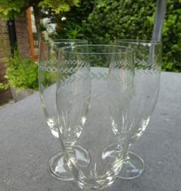 Schitterende oude champagne - prossecoglazen