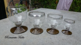 Oud Art Deco glasservies  40 delig   D- 14
