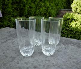 Schitterende oude  geslepen water - bierglazen