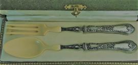 Antiek zwaar verzilverd Frans slabestek no 50