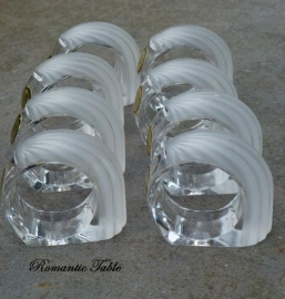 Oude kristallen servetringen  Villery & Boch
