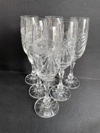 zeer oude kristallen champagne glazen Cristal  de Loraine decor Gerard