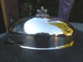 Antieke zwaar verzilverde zeer grote cloche - Meat Dome  VERKOCHT
