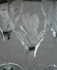 Zeer bijzonder oude kristallen borrel - likeurglaasjes