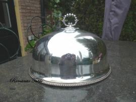Antieke zwaar verzilverde Cloche - Meat Dome VERKOCHT
