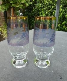 Antieke kristallen bier - waterglazen
