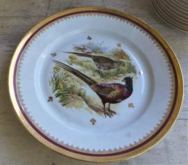 Oud zeldzaam Limoge  + Wild + ontbijtservies met bladgoud