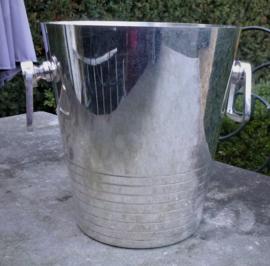 Schitterende oude zwaar verzilverde Art Deco champagne koeler  no 5050