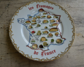 Zeer groot Oud Limoge  Eet + Onbijt +kaasservies   110 delig met bladgoud