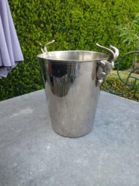 Oude verzilverde champagne  koeler