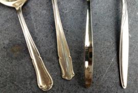 OPRUIMING Oude zwaar verzilverde roomlepels 4 stuks