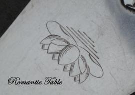 Antieke zwaar verzilverde Art Deco taartschep Wiskemann  no 4