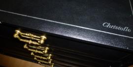 Zwaar verzilverd bestek Christofle Albi in nieuwstaat + origineel koffer 152 delig