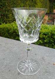 Oude geslepen wittewijn glazen