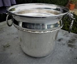 Oude verzilverde champagne koeler no 5005