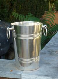 Oude verzilverde champagne koeler no 406 ook geschikt voor magnum flessen