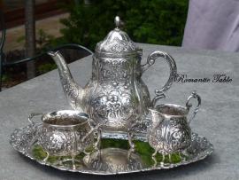Antiek zilveren  800  moccastel