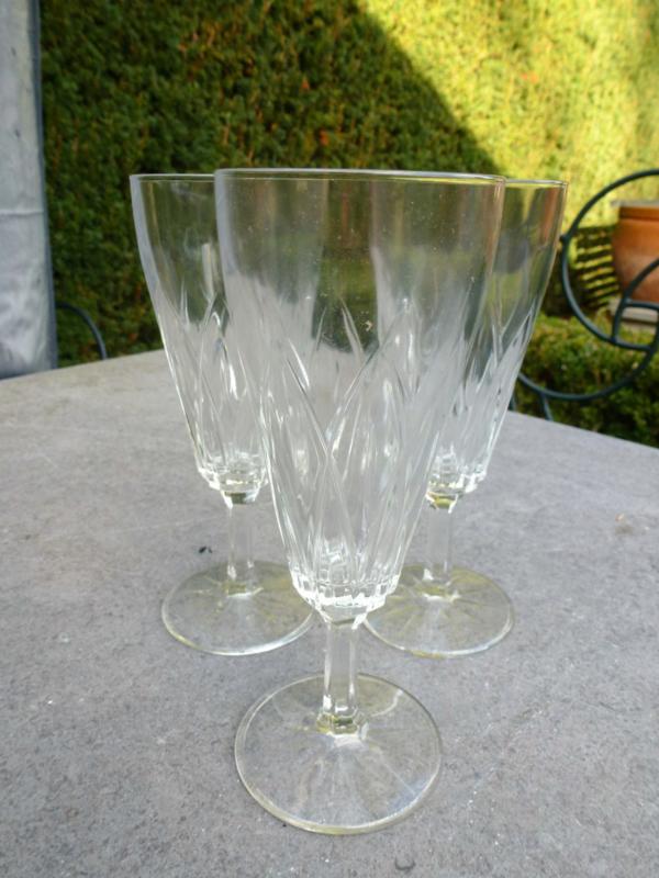 Schitterende oude champagneglazen  12 stuks