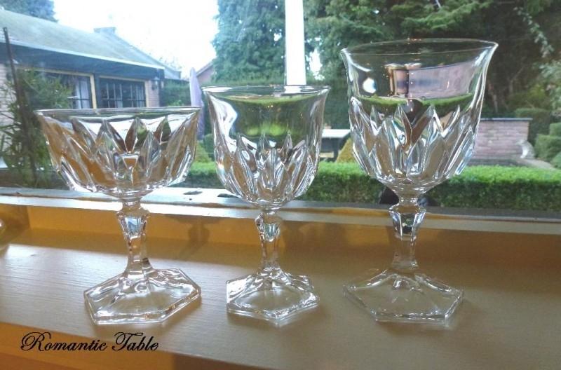 Oud kristallen servies D-88