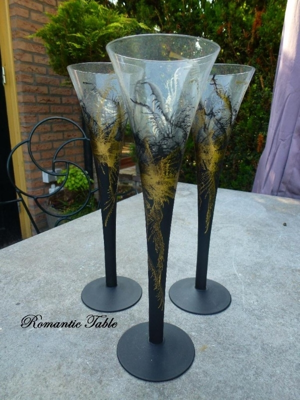 Oude design champagne fluites