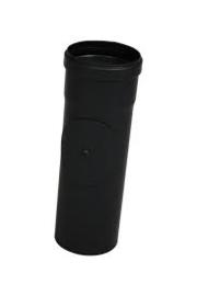 Pelletkachel pijp 25cm zwart diam. 80mm.R03.0