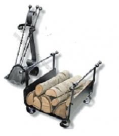 Nostalgisch haardstel met idem houtbak RZAL040350