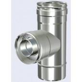 dubbelwandig T-stuk 90° + condens dop 150-200mm
