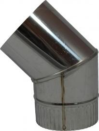 RVS EW Ø130mm bocht 45 graden