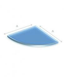 Vloerplaat Glas Kwartrond,6mm.90cmx90cm.(RDH 7161)