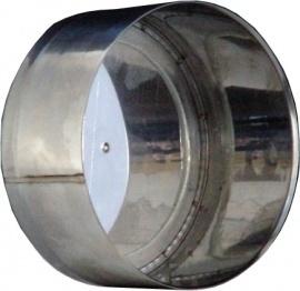 RVS EW Ø110mm - Deksel voor T-stuk