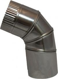 Bocht RVS 90 graden Verstelbaar Diam.150mm met Krimpverbinding.(1512v)