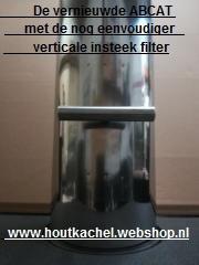 de vernieuwde Abcat rookgasfilter RVS 1 meter , Ø150mm.(Katalysator)
