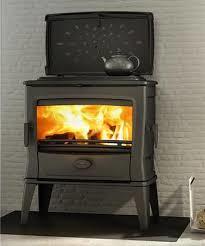 Dovre Tai 55md hout/kolenbunker met kookplaat en sierdeksel