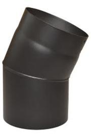 Bocht 30 graden diam. 125mm ,dikte 2mm zwart