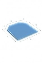 Glas 6-kant 6mm.80x80cm.RDH.187