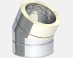 Bocht 15 Graden Solinox RVS Dubbelwndig Diam. 100-150mmS05.0