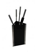 Haardstel Bak driehoekig zwart/aluminiumRZD3503R (503A)