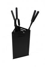 Haardstel Bak driehoekig zwart RZD3503