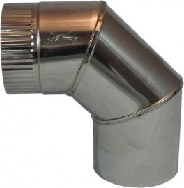 Bocht Rvs 90 Graden EW  Diam. 150mm met krimpverbinding
