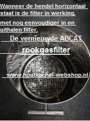 De Vernieuwde Abcat rookgasfilter diam.200 mm Lengte : 100 cm
