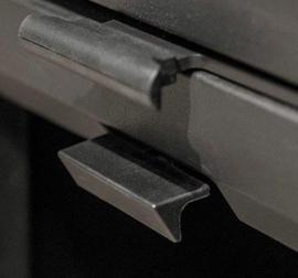 Charnwood Skye 5  mat Zwart 2-7KW op Sokkel. Afv. diam.125mm