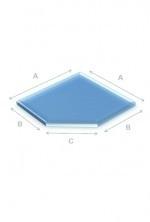 Glas zeskant 6mm 90x90mm.RDH186