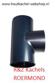 T stuk geblauwd met dop  diameter 111mm.RDH