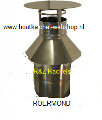 Thermovent concentrisch trekkendekap met luchttoevoer Ø 130-200mm.RZH.dwl.0041