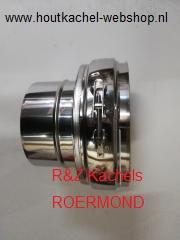 Aansluitstuk DW Solinox RVS Ø 100-150mm naar Ø 100mm. RZS10.0