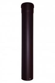 Pelletkachel pijp1 Meter Zwart Diam. 80mm dik 1,2mmRS01.0
