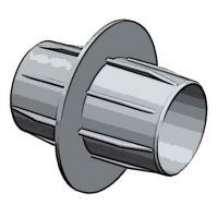 verbindingsstuk  Ø80mm. aluminium flexibel
