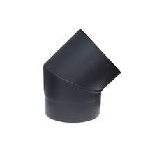 bocht 45 graden  diam.100mm dik 0,6mm zwart